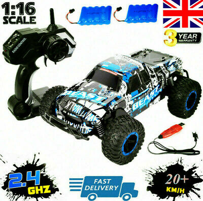 2.4G RC Car 1:16 Scale High Speed Remote Control Car Off Road Monster Truck Gift • 20.99£
