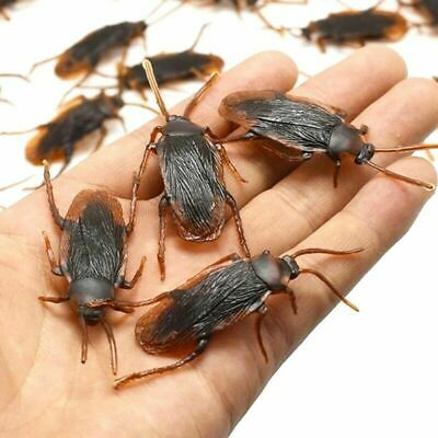 10 X Joke Cockroach Bug Funny Prank Novelty Life Like Fake Plastic Toy Trick NEW • 2.99£