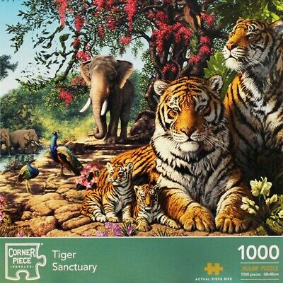 Tiger Sanctuary 1000 Piece Jigsaw Puzzle, Toys & Games, Brand New • 9£