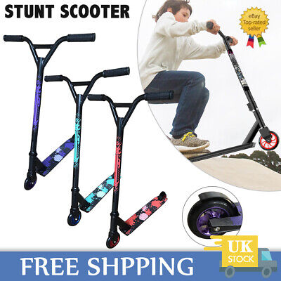 360° Spin Pro Stunt Scooter Kids Adult Push Kick Street Trick Scooters Fixed Bar • 31.89£