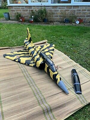 Rc Plane Jet Yellow With Black Stripes 90 Size Electric Duct  • 72£