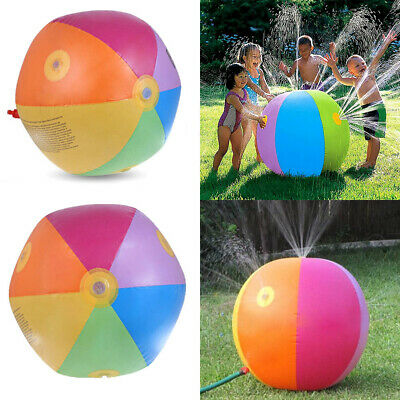 6 Colors Inflatable Sprinkler Ball Water Spray Party Kids Play Toy Beach Outdoor • 7.70£