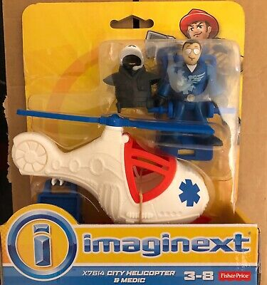 Fisher Price Imaginext City Helicopter And Medic • 15£