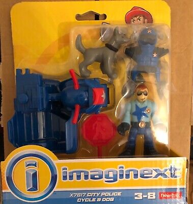Fisher Price Imaginext City Police Cycle & Dog Set • 20£