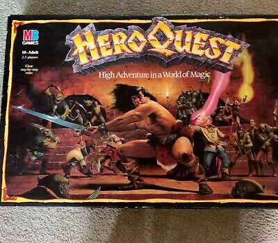 Hero Quest Board Game MB. Very Good Condition And Complete. Super Game! • 82£