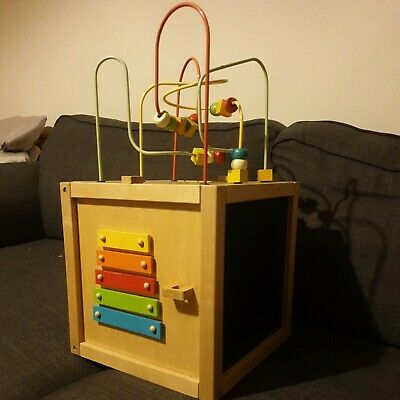 Early Learning Centre - Giant Wooden Activity Cube - 12-36 Months • 3£