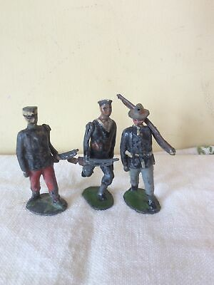 Vintage French  Lead Soldiers,these Have Moving Arms. • 11.01£