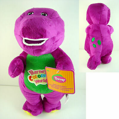 28cm/12'' Barney The Dinosaur Sing I LOVE YOU Song Purple Soft Plush Doll Toy UK • 8.99£