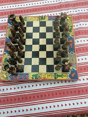 Vintage Chess Set And Board • 13.50£