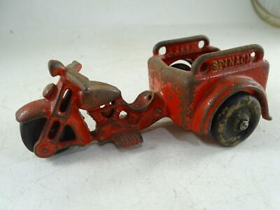 Antique Cast Iron Motorcycle Cart Spinach Popeye Hubley 5.25  Long Vintage Old • 14.66£