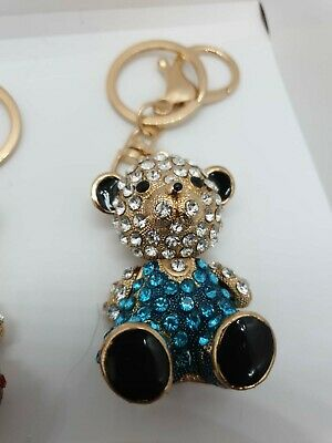 BRAND NEW ASSORTED PACK OF 6 Gold Coloured/diamonte Charm Keyrings, Free Post  • 9.99£