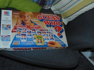 Vintage Guess Who? Board Game Complete Mb Games 1987 • 5.50£