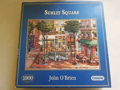 Gibsons 1000 Piece Jigsaw Puzzle. Complete. Sunlit Square Complete  • 7.95£