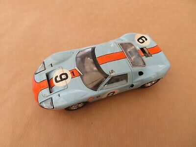 Scalextric Ford Gt40  (lights) Gulf • 10£