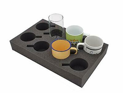 Cup / Glass Holder For Up To 8 Pieces, Foam For Camping Caravans Motorhomes • 24.99£