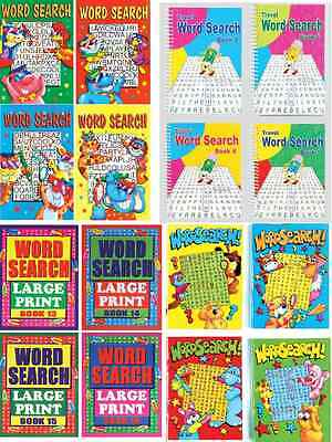 4 Wordsearch Puzzle Books A4 A5 A6 Size For Adults & Children Word Finder Search • 5.95£