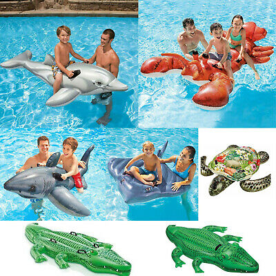 Inflatable Ride On Swimming Pool Beach Toy Float  Rider Lilo  • 7.99£