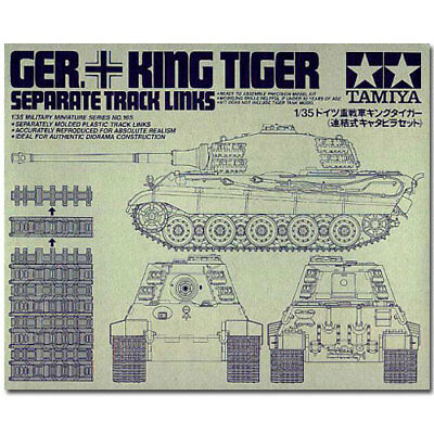 TAMIYA 35165 King Tiger Track Links 1:35 Military Model Kit • 18.60£