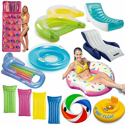 Inflatable Pocket Fashion Designer Lounger Lilo Float Tube Rings Recliner Chair • 27.99£