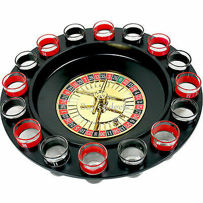 Drinking Roulette Party Set Spin Shot Stag Hen Game Glass Games Adult Drinking • 7.45£