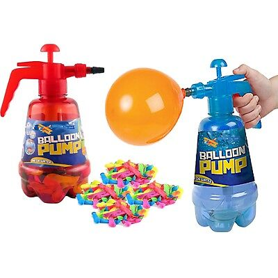 2 In 1 Air Water Bomb Balloon Pump Kids Party Outdoor Garden 100pc Balloons Set • 7.99£