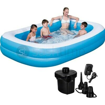 Large Family Swimming Pool Garden Outdoor Summer Inflatable Kid Paddling W/ Pump • 44.99£