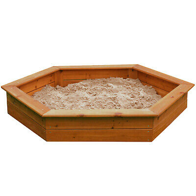 Strong Large Wooden Sandpit With Tie On Rain Cover And Underlay 1.5 Metres Wide • 69.99£