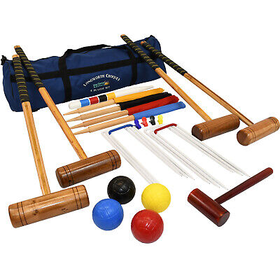 Adult Croquet Set Full Size Longworth 4 Player In A Bag Garden Game  • 169.99£