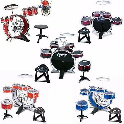 Kids My First Drum Kit Play Set Drums Cymbal Musical Toy Instrument Pedal Stool  • 16.99£