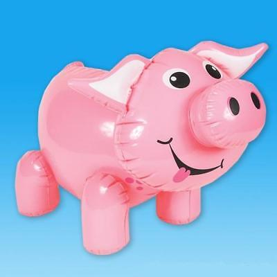 24  Giant Inflatable Pig Farm Animal Inflate Blow Up Themed Novelty Party Toy  • 2.99£
