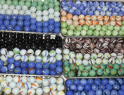 COLLECTORS MARBLES 50 X SMALL 16mm 0.6  OPAQUE ASS COLOURS *YOU CHOOSE*  • 6.99£