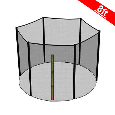 8FT Trampoline Replacement Safety Net Enclosure Surround Outside Netting New • 24.95£