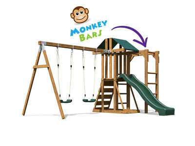Childrens Climbing Frame Swing Set Slide Monkey Bars Kids UK - JuniorFort Monkey • 429.99£