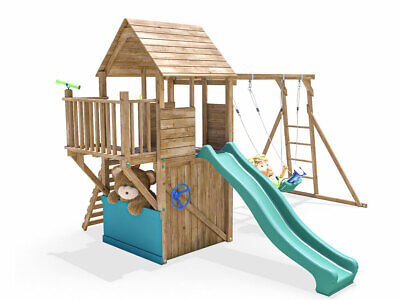 Climbing Frame Childrens Outdoor Play Tower Monkey Bar Swing Set - BalconyFort • 659.99£
