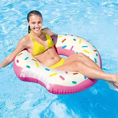 Intex Inflatable Donut Tube Pool Float Lounger Beach Swimming Toy Lilo Swim Ring • 5.49£