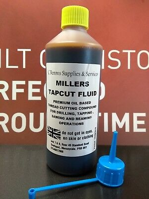 MILLERS TAPCUT CUTTING  FLUID FOR TAPPING, DRILLING, REAMING, SAWING 500ml RTD • 8.11£