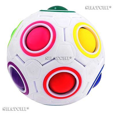 Fidget Ball Rainbow Magic Puzzle Cube Fidget Toy Stress Relief Autism Gifts Toys • 5.99£