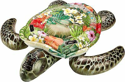 Intex Inflatable Realistic Turtle Ride On Cavalcabile Swimming Pool Beach Toy • 15.99£