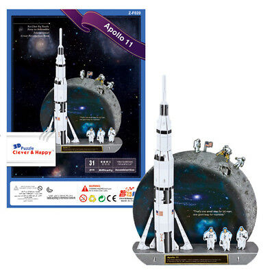 Apollo 11 Shuttle 3D Puzzle Jigsaw Model NASA Space Birthday Gift • 6.97£