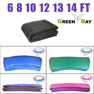 Trampoline Replacement Safety Net Enclosure Spring Cover Pad 6 8 10 12 13 14 FT • 54.95£