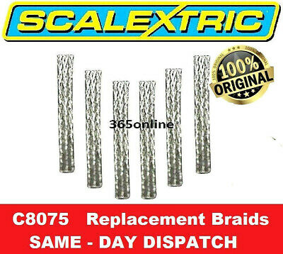 SCALEXTRIC Replacement Braids - Pack Of 6 C8075  ✅ FAST & FREE DELIVERY • 2.99£