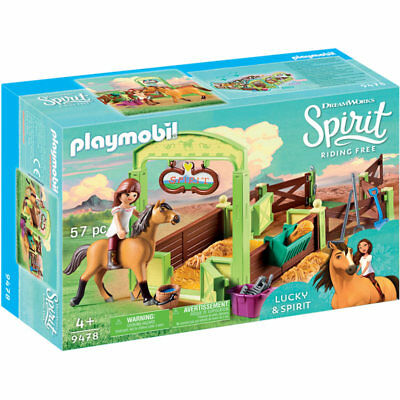 PLAYMOBIL Lucky & Spirit With Horse Stall - Spirit 9478 • 16.95£