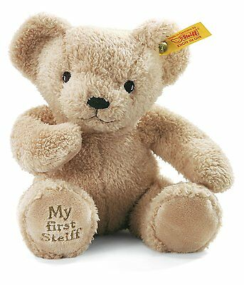 STEIFF 664120 - STEIFF BABY MY FIRST STEIFF 24cm TEDDY BEAR BEIGE NEW  • 32.99£