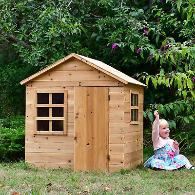 Evermeadow House Wooden Playhouse Unique Slot-Together Design Optional Floor • 189£