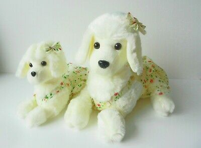 Plush Soft Toy Dog And Puppy Poodle Pair, Brand New • 22.99£