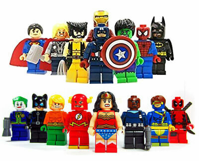16PC Marvel Avengers DC Super Hero Mini Figure Set Fits LEGO UK SELLER • 15.99£