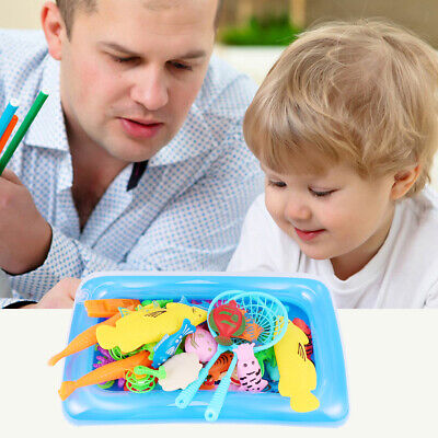 Baby Kids Magnetic Fishing Game Jigsaw Puzzle Board Wooden Educational Toy • 8.09£
