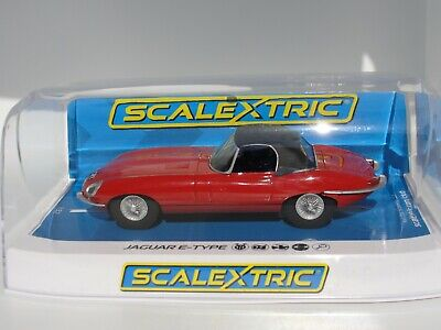 Scalextric Jaguar E-type  Red  C4032  1.32 Slot  Bnib • 39.99£