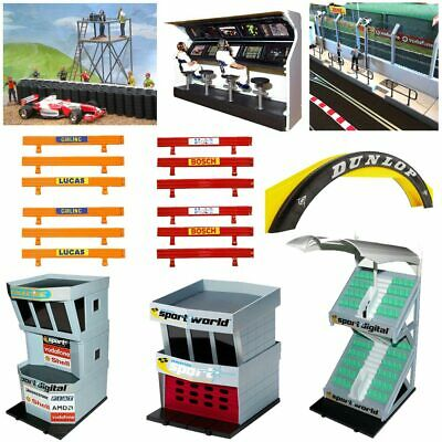 SCALEXTRIC Accessories For 1:32 Track Layouts, Barriers Buildings Bridges Boards • 9.95£