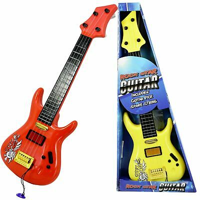 19  Kids Childs Acoustic Rock Guitar Toy Musical Instrument With Guitar Pick • 6.99£